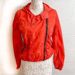 Red Calvin Klein Jeans Zip Up Jacket Size Large